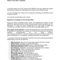 Première édition du Prix de thèse du GIS GESTES en 2020.pdf